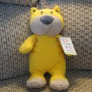 NWT Carters Just One You Yellow Tiger Just For Play Rattles Lovey Plush