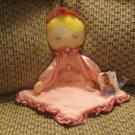 NWT Kids Preferred Pink Princess Silver Sparkle Security Blanket Lovey Plush