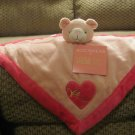 NWT Rocawear Baby Little Gem Pink Heart Teddy Bear Security Blanket Lovey Plush