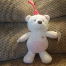 NWT Carters Just One You Teddy Bear Crib Pull Toy Musical Plush Pink Bow Flower 11""