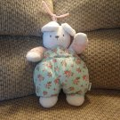 Carters Pink Bunny Rabbit Musical Rock-A-Bye Baby Crib Pull Toy 13""