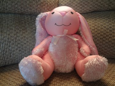 """Moshi By Brentwood Pink Bunny Rabbit Microbead Lovey Plush 15"""""""