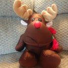"""Brentwood Originals Brown Reindeer Microbead Lovey Plush 18"""""""