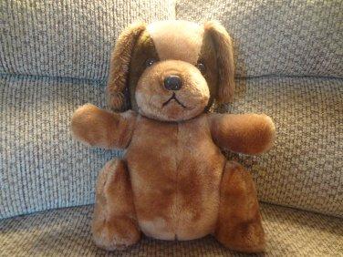 "Vintage Interpur Avon Brown Puppy Dog Shredded Clippings Lovey Plush 15"""