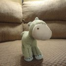Carters Horse Pony Star Light Green Aqua Nubby Embroidered Lovey Plush 7.5""