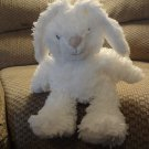 First Impressions White Furry Bunny Rabbit Black Sewn Eyes Lovey Plush 18""