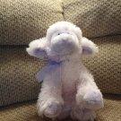 "Russ Berrie Lulu #37012 Lavender Purple Bow Black Button Eyes Lamb Lovey Plush 12"""