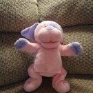 "Baby Ganz Baby Puppet Puppy Pink Purple Sewn Eyes Rattles Lovey Plush 12"""