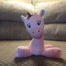 "Garanimals Pink Stitched Wind Up Musical Giraffe Baby Plush Lovey 11"""