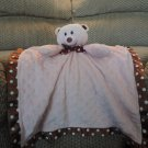 First & Main Pink Minky Dots Teddy Bear Security Blanket Lovey Plush