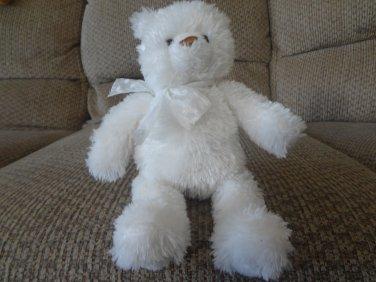 "Baby Gund White Little Brighton Teddy Bear Lovey Plush #015233 10"""