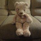 """Carters Tan Teddy Bear Twisty Fur #8637 Lovey Plush 15"""""""