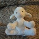 Russ Berrie Pottery Barn Kids Small Lamb Cream White Rattles Lovey Plush