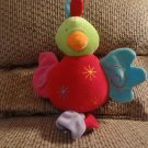 """2005 Carousel Manhattan Toy Parrot Asterisks Swirls Colorful Musical Brahms Lullaby Crib Pull Toy14"""""""