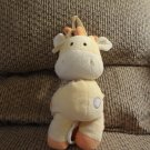 Carters Just One Year Yellow Giraffe Musical Crib Pull Toy Lovey Plush 11""