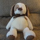 Koala Baby Baby's First Puppy Brown Suede Cream Puppy Dog Lovey Plush 13""