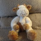 Russ Berrie Tuscany Cream Brown Spotted #3341 Cow Lovey Plush 15""