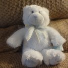Russ Berrie Baby 25912 My First Teddy Blue Stripped Bow Teddy Bear Lovey Plush