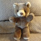 Vintage Animal Fair Brown Cream Teddy Bear Lovey Plush 11""