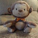 "Carters Child Of Mine Bean Bag Brown Tan Monkey Lovey Plush 6"""