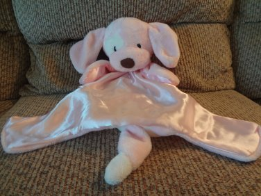 Baby Gund Huggybuddy Spunky Pink Puppy Dog Security Blanket 058966 14