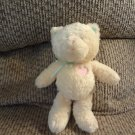 """Gund Heads & Tails Yellow Pink Baby Blue Green Rattles Kitty Cat Lovey Plush 8"""""""