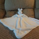 NM Baby Nieman Marcus White Pink Accents Bunny Rabbit Security Blanket 16x16""