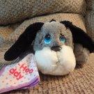 "Vintage Mattel Emotions? Boo Hoo Buddy Crying Gray Puppy Dog Handkerchief Plush10"""