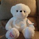 "WT Color Kinetics Cepia Glo E Love Bug Bear Butterfly White Nightlight Teddy Bear Lovey Plush 16"""