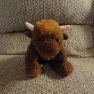 Mary Meyer Sweet Rascals Buffalo Bison Tan Velour Horns Lovey Plush 12""