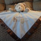 Carters Child Of Mine Blue Brown I Love Hugs Teddy Bear Security Blanket