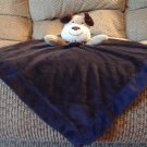 Carters One Size Navy Blue My 1st Puppy Tan Brown White Puppy Dog Security Blanket