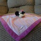 "Disney Baby Black Minnie Mouse Pink Microfleece Security Blanket 13 ""x13"""