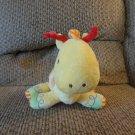 """Carters #8627 Yellow Orange Brown Eyes Rattles Giraffe Baby Plush Lovey 8"""""""