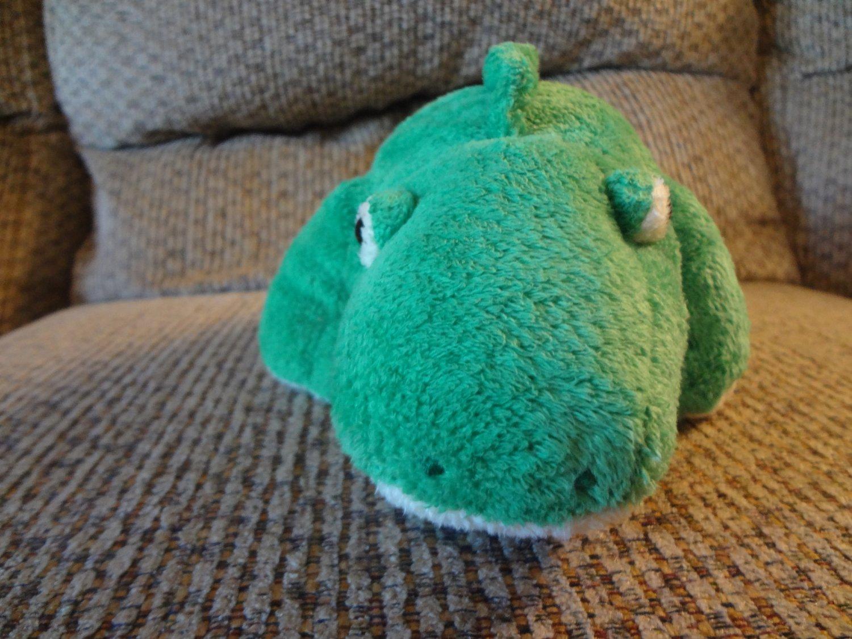 "2005 Ty Pluffies Chomps Green Yellow Tylux Aligator Lovey Plush 10"""