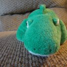 2005 Ty Pluffies Chomps Green Yellow Tylux Aligator Lovey Plush 10""