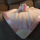 Disney Classic Pooh Lovey Blanket Pink Fleece Blanket Satin Edge Cream Teether Rattle Lovey Plush