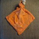 Disney Orange Tigger Plush Pocket Dragonfly Block Patch Lovey Security Blanket