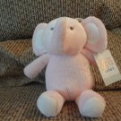 """NWT Carters Just One You Pink Elephant Brown Sewn Eyes Lovey Plush 8"""""""