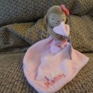 """NWT Carters Just One You I Adore Mommy Monkey Rattles Pink Security Blanket Lovey Plush 9"""""""
