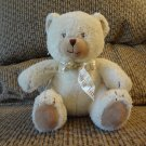 Little Wonders Once Upon A Time Rattles Cream Terry Tan Velour Teddy Bear Lovey Plush 7""