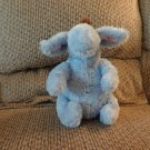 Disney Winnie The Pooh Blue Brown Furry Eeyore Donkey Horse Lovey Plush 9""