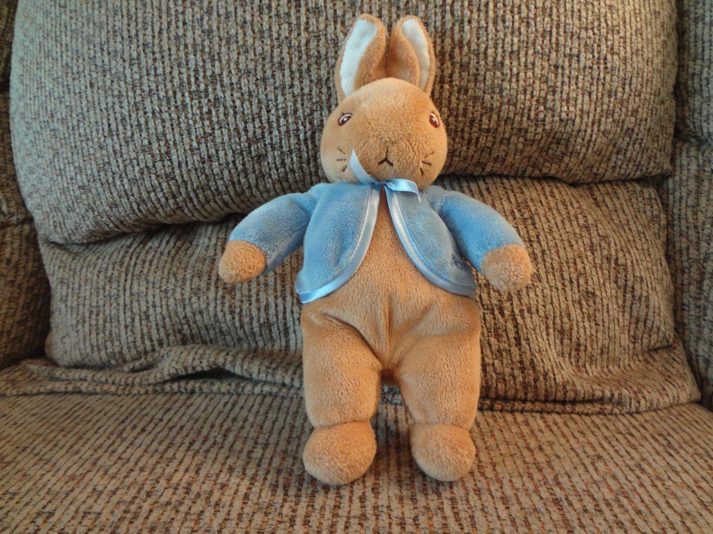 """2007 Frederick Warne Augusta duBaye Peter Rabbit Bunny Rabbit Blue Coat Lovey Plush 10"""""""