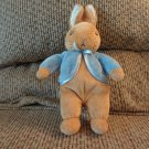 2007 Frederick Warne Augusta duBaye Peter Rabbit Bunny Rabbit Blue Coat Lovey Plush 10""