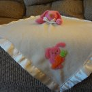 Blankets And Beyond Pink Bunny Rabbit Carrot Cream Security Blanket Lovey Plush 17x17""