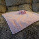 Amy Coe Limited Edition Rosette Flower Pink Lovey Plush Security Blanket 14x14