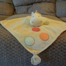 Carters One Size Yellow Lovey Rattles Spotted Green Orange Knotted Corners Giraffe Security Blanket