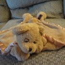 Ellis By Plush Image Brown Teddy Bear My Banky Like Security Blanket Lovey