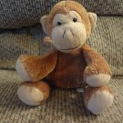 Mary Meyer Brown Fleece Tan Velour Monkey Lovey Plush 7""