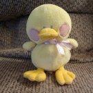 "Baby Ganz Delia BG894 Duck Duckling Polka Dot Satin Rattles Lovey Plush 8"""